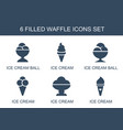 6 waffle icons vector image vector image