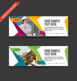 abtract construction web banners vector image vector image