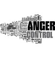 anger and your health text word cloud concept vector image vector image