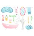 bathroom cartoon elements collection personal vector image