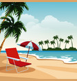 beautiful island cartoon vector image vector image