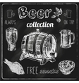 Beer icons blackboard set vector image vector image