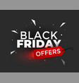 black friday offers creative banner design vector image vector image