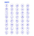 blue transportation web icons set vector image