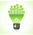 Bulbs on half bulb vector image vector image