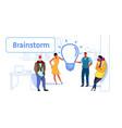 businesspeople group meeting brainstorming process vector image