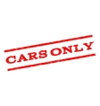 Cars Only Watermark Stamp vector image vector image
