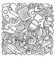 cartoon doodles art and design vector image