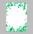 Christmas chaotic pine tree flyer template vector image