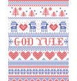christmas pattern god yule vector image vector image