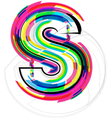 Colorful Font - Letter s vector image vector image