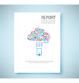 Cover report cloud social network background vector image vector image