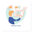customer review usability evaluation feedback vector image vector image