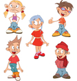 Cute Little Girls and Boys vector image