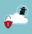 cyber security icons vector image vector image