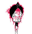 dead man with blood vector image