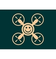 Drone quadrocopter icon Smiley symbol vector image vector image