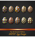 Easter Day Egg With Pop Art Geometric Pattern vector image vector image