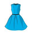 elegant blue dress icon beautiful short blue vector image vector image