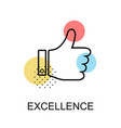 excellence thump up graphic icon vector image