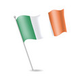 flag of ireland on the flagstaff vector image vector image