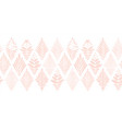floral border seamless subtle pink on white vector image