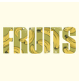 Fruits sign vector image vector image