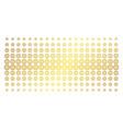globe golden halftone effect vector image