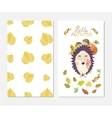 Hello autumn Stylish inspiration card in cute vector image vector image