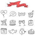 Icon of valentine with hand draw vector image vector image