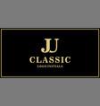 ju monogram classic logo design inspiration vector image vector image