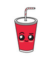 kawaii cute delicious soda beverage vector image