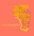 Los angeles map flat style design