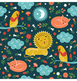 lullaby pattern cute animals vector image vector image