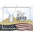 memoral neclace and united states flag vector image vector image