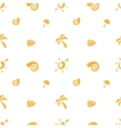 minimalistic sea objects seamless pattern vector image vector image