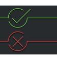 modern green check mark on black vector image