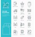 modern line icon design concept online shopping vector image vector image