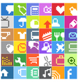 Modern social media color buttons interface icons vector | Price: 1 Credit (USD $1)