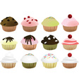 muffin set vector image vector image