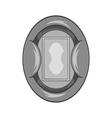 Oval football stadium icon black monochrome style vector image vector image
