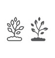 plant line and glyph icon farming and agriculture vector image vector image