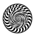 radial spiral with rays psychedelic vector image vector image