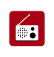 radio app button vector image