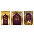 ramadan background golden arches vector image