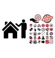 Realty Buyer Flat Icon with Bonus vector image