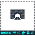 road tunnel icon flat vector image vector image
