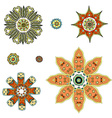 round set with mandala vector image vector image