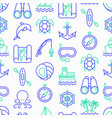 sea and ocean journey seamless pattern vector image vector image
