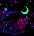 seamless multicolored background cosmic starry vector image